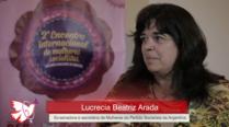 Lucrecia Arada – 2º Encontro Internacional de Mulheres Socialistas – Entrevista