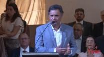 Aécio Neves discursa durante homenagem aos 50 anos de Eduardo Campos