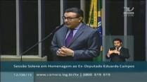 Sessão Solene em homenagem ao ex-deputado Eduardo Campos na Câmara dos Deputados
