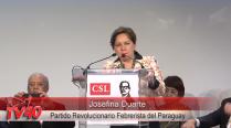 Josefina Duarte no Encontro da CSL