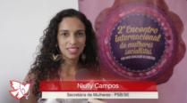 Niuly Campos – 2º Encontro Internacional de Mulheres Socialistas – Entrevista