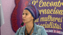 Joluzia Batista – 2º Encontro Internacional de Mulheres Socialistas – 2º Dia