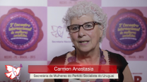 Carmen Anastasia – 2º Encontro Internacional de Mulheres Socialistas – Entrevista