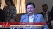 Antônio Campos discursa em homenagem aos 50 anos do irmão, Eduardo Campos