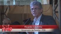 Ricardo Coutinho faz discurso em homenagem a Eduardo Campos