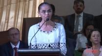 Marina Silva fala em homenagem a Eduardo Campos