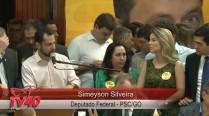 Simeyzon Silveira fala no Ato de Filiação da Excelentíssima Senhora Senadora Lúcia Vânia ao PSB