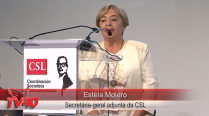 Estela Molero no Encontro da CSL