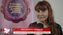 Alba Gallardo – 2º Encontro Internacional de Mulheres Socialistas – Entrevista