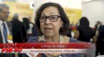 Entrevista Lidíce da Mata – Ato de Filiação Aldo Rebelo